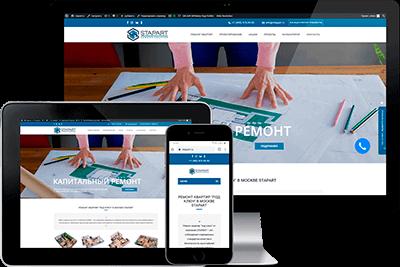 Разработка и оптимизация сайта для компании по ремонту квартир