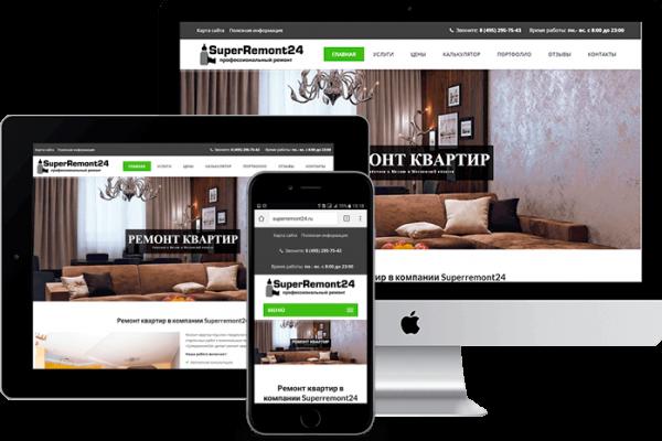 Продающий сайт по ремонту квартир
